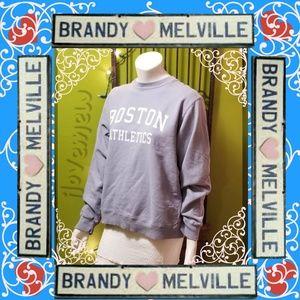 Brandy Melville boston blue athletics sweatshirt